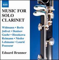 Music for Solo Clarinet - Eduard Brunner (clarinet)