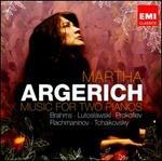 Music for Two Pianos: Brahms, Lutoslawski, Prokofiev, Rachmaninov, Tchaikovsky - Gabriela Montero (piano); Giorgia Tomassi (piano); Lilya Zilberstein (piano); Martha Argerich (piano); Mirabela Dina (piano);...