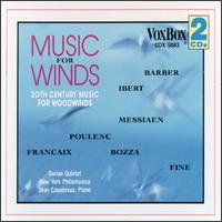 Music for Winds - Barry Benjamin (french horn); Charles Kuskin (oboe); Dorian Wind Quintet; Isidore Cohen (violin); Jane Taylor (bassoon);...