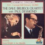 N.Y.C., Carnegie Hall, February 22, 1963: The Dave Brubeck Quartet with Paul Desmond