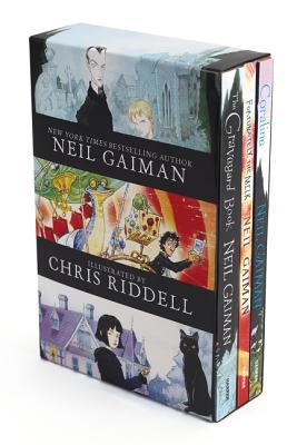Neil Gaiman/Chris Riddell 3-Book Box Set: Coraline; The Graveyard Book; Fortunately, the Milk - Gaiman, Neil