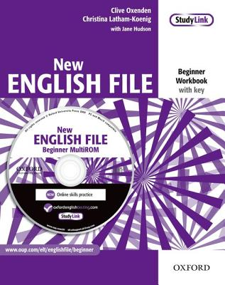 New English File: Beginner: Workbook with key and MultiROM Pack: Six-level general English course for adults - Oxenden, Clive, and Latham-Koenig, Christina, and Hudson, Jane