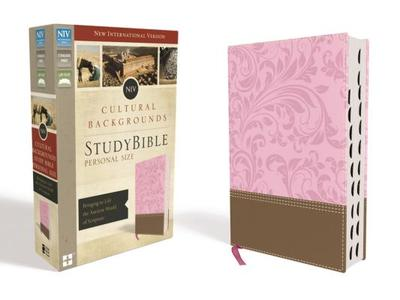 NIV, Cultural Backgrounds Study Bible, Personal Size, Imitation Leather, Pink/Brown, Indexed, Red Letter Edition: Bringing to Life the Ancient World of Scripture - Keener, Craig S (Editor), and Walton, John H (Editor)