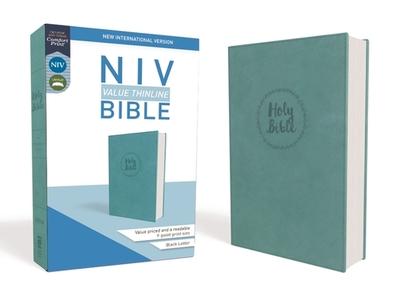 NIV, Value Thinline Bible, Imitation Leather, Blue - Zondervan