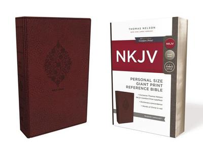 NKJV, Reference Bible, Personal Size Giant Print, Imitation Leather, Burgundy, Red Letter Edition, Comfort Print - Thomas Nelson