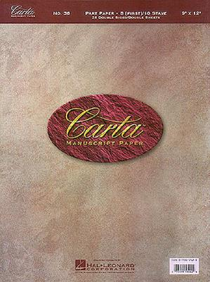 No. 36: Carta Part Paper - Hal Leonard Publishing Corporation (Creator)