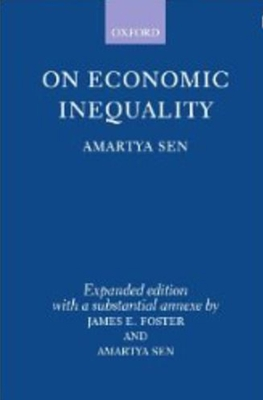 On Economic Inequality - Sen, Amartya, Master, and Foster, James E