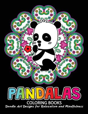 Pandalas Coloring Book Relax With Panda And Mandala Zentangle Design For Ages 2 4
