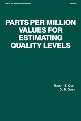 Parts Per Million Values for Estimating Quality Levels - Odeh, Robert E, and Owen, D B, and R, E Odeh