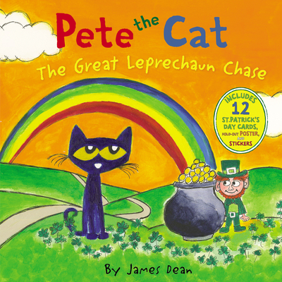 Pete the Cat: The Great Leprechaun Chase: Includes 12 St. Patrick's Day Cards, Fold-Out Poster, and Stickers! -