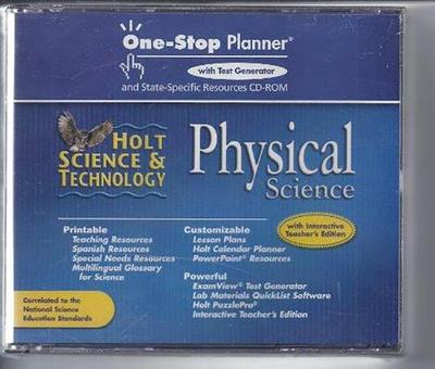 Physical Science One Stop Planner With Test Generator - Holt Science And Technology