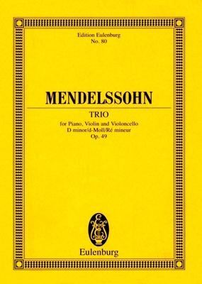 Piano Trio No. 1, Op. 49 in D Minor: Study Score - Mendelssohn, Felix (Composer)