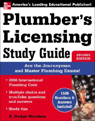 Plumber's Licensing Study Guide - Woodson, R Dodge