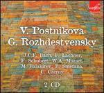 Postnikova & Rozhdestvensky play J.C.F. Bach, Lachner, Schubert, Mozart, Balakirev, Smetana, Czerny