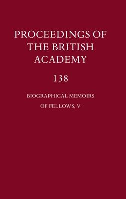 Proceedings of the British Academy, 138 Biographical Memoirs of Fellows, V - Marshall, P. J., Prof., FBA, CBE