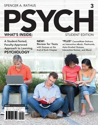 PSYCH3 (with CourseMate Printed Access Card) - Rathus, Spencer