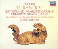 Puccini: Turandot - Joan Sutherland (vocals); Luciano Pavarotti (vocals); Montserrat Caball? (vocals); Nicolai Ghiaurov (vocals); Peter Pears (vocals); Pier Francesco Poli (vocals); Piero de Palma (vocals); Sabin Markov (vocals); Tom Krause (vocals)
