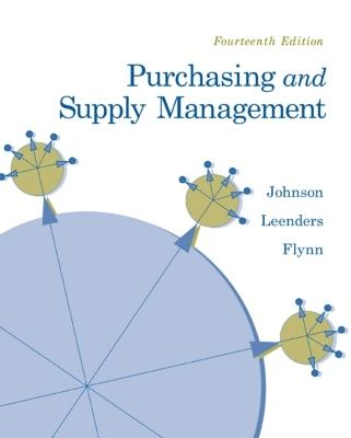 Purchasing and Supply Management - Johnson, P Fraser