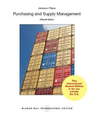 Purchasing and Supply Management - Johnson, P. Fraser, and Flynn, Anna