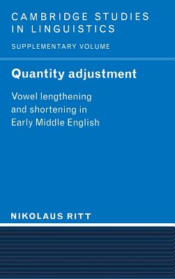 Quantity Adjustment - Ritt, Nikolaus