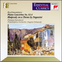 Rachmaninov: Piano Concertos Nos. 1 & 4; Rhapsody on a Theme by Paganini - Philippe Entremont (piano); Philadelphia Orchestra; Eugene Ormandy (conductor)