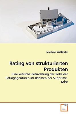 Rating Von Strukturierten Produkten - Waldthaler, Mattheus