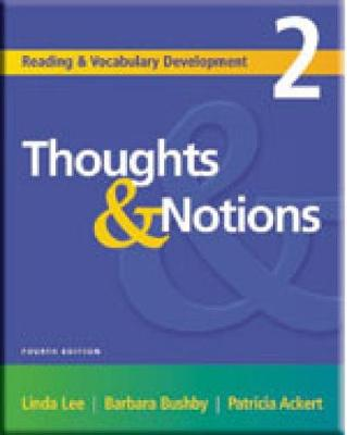 Reading and Vocabulary Development 2: Thoughts & Notions - Ackert, Patricia, and Lee, Linda