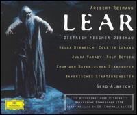Reimann: Lear - Colette Lorand (vocals); David Knutson (vocals); Dietrich Fischer-Dieskau (vocals); Georg Paskuda (vocals); Gerhard Auer (vocals); Hans Günther Nöcker (vocals); Hans Wilbrink (vocals); Helga Dernesch (vocals); Julia Varady (vocals); Karl Helm (vocals)