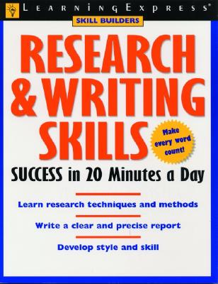 Research & Writing Skills Success in 20 Minutes a Day - Stark, Rachael, and Learning Express LLC