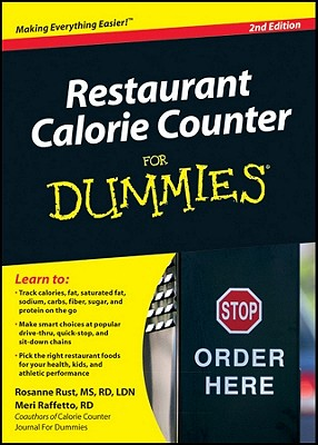 Restaurant Calorie Counter For Dummies - Rust, Rosanne, and Raffetto, Meri