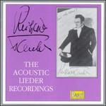 Richard Tauber and The Acoustic Lieder Recordings