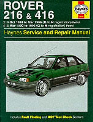 Rover 216 and 416 Service and Repair Manual - Coombs, Mark, and Rogers, Christopher