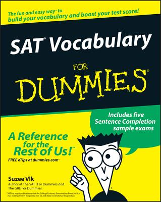 SAT Vocabulary for Dummies - Vlk, Suzee, J.D., MBA
