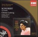 Schubert: 15 Lieder - Christa Ludwig (mezzo-soprano); Geoffrey Parsons (piano); Gerald Moore (piano); Gervase de Peyer (clarinet)