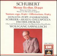 Schubert: Mass in E flat major; Tantum Ergo; Offertorium - Adolf Dallapozza (tenor); Brigitte Fassbaender (contralto); Dietrich Fischer-Dieskau (bass); Francisco Araiza (tenor); Helen Donath (soprano); Lucia Popp (soprano); Peter Schreier (tenor); Bavarian Radio Chorus (choir, chorus)