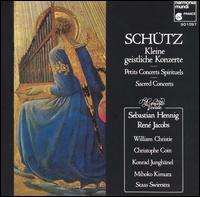 Schutz: Symphoniae Sacrae; Kleine Geistliche Konzerte - Concerto Vocale; Konrad Junghanel (archlute); Mihoko Kimura (violin); Staas Swierstra (violin); William Christie (organ)