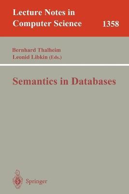 Semantics in Databases - Thalheim, Bernhard (Editor)