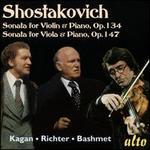 Shostakovich: Sonata for Violin & Piano, Op. 134; Sonata for Viola & Piano, Op. 147