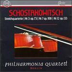 Shostakovich: Streichquartette Nr. 3 Op. 73, Nr. 7 Op. 108, Nr. 12 Op.133