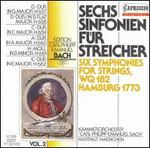 Six Symphonies For Strings And Continuo