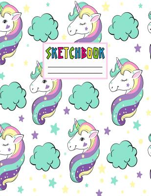 Sketchbook: Cute Unicorn Kawaii Sketch Book for Girls, Kids, Teens, Women (Perfect for Sketching, Drawing, Doodling, Journal, Note Pad, Birthday Party Favors) - Press, Joeann Marks