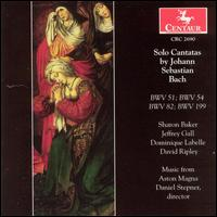 Solo Cantatas by Johann Sebastian Bach - Anne Trout (bass); Daniel Stepner (violin); David Miller (viola); David Ripley (bass); Dominique Labelle (soprano);...