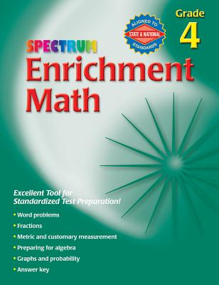 Spectrum Enrichment Math, Grade 4 - Frank Schaffer Publications (Creator)