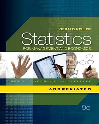 Statistics for Management and Economics: Abbreviated - Keller, Gerald