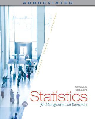 Statistics for Management and Economics - Keller, Gerald