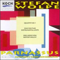 Stefan Wolpe: Quartet No. 1; Piece For Two Instrumental Units; Drei Lieder von Bertolt Brecht - Alan R. Kay (clarinet); Albert Regni (sax); Allen Blustine (clarinet); Barbara Allen (harp); Chris Finckel (cello);...
