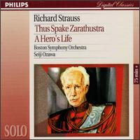 Strauss: Also Sprach Zarathustra, Op. 30; Ein Heldenleben, Op. 40 - Joseph Silverstein (violin); Boston Symphony Orchestra; Seiji Ozawa (conductor)