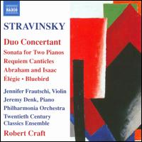 Stravinsky: Duo Concertant - David Wilson-Johnson (baritone); Jennifer Frautschi (violin); Jeremy Denk (piano); Maarten van Veen (piano);...