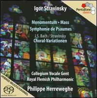 Stravinsky: Monumentum; Mass; Symphonie de Psaumes - Inge Spinetti (piano); Jan Michiels (piano); Collegium Vocale (choir, chorus); Royal Flemish Philharmonic;...