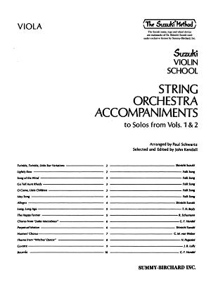 String Orchestra Accompaniments to Solos from Volumes 1 & 2: Viola - Schwartz, Paul (Composer), and Kendall, Diana Elizabeth (Editor), and Kendall, John (Editor)